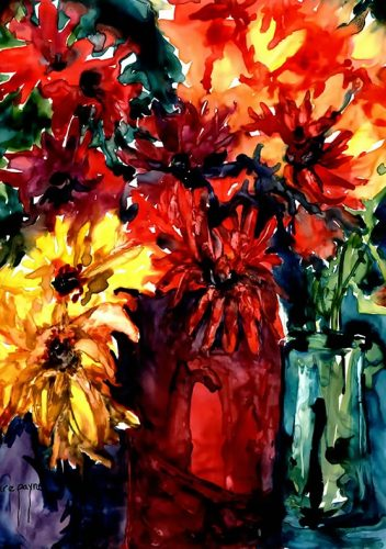 Flowers in Red and Yellow
